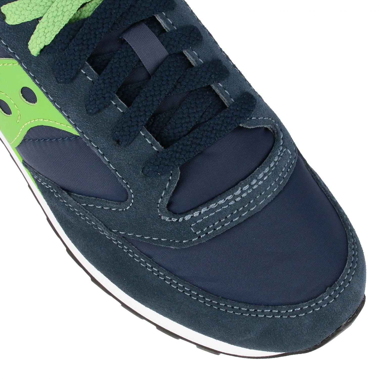 Sneakers Saucony in nylon pelle e camoscio con suola in gomma a righe blue navy 3