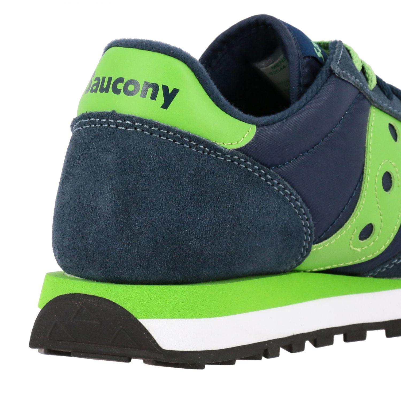 Sneakers Saucony in nylon pelle e camoscio con suola in gomma a righe blue navy 4