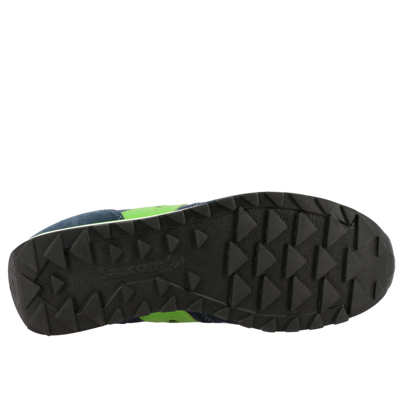 Sneakers Saucony in nylon pelle e camoscio con suola in gomma a righe blue navy 5
