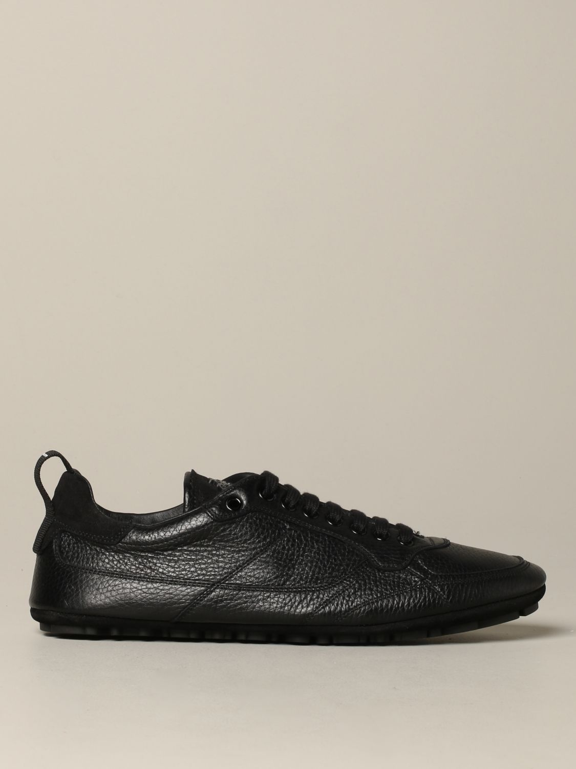Brogue shoes Dolce & Gabbana: Dolce & Gabbana leather sneakers with logo black 1