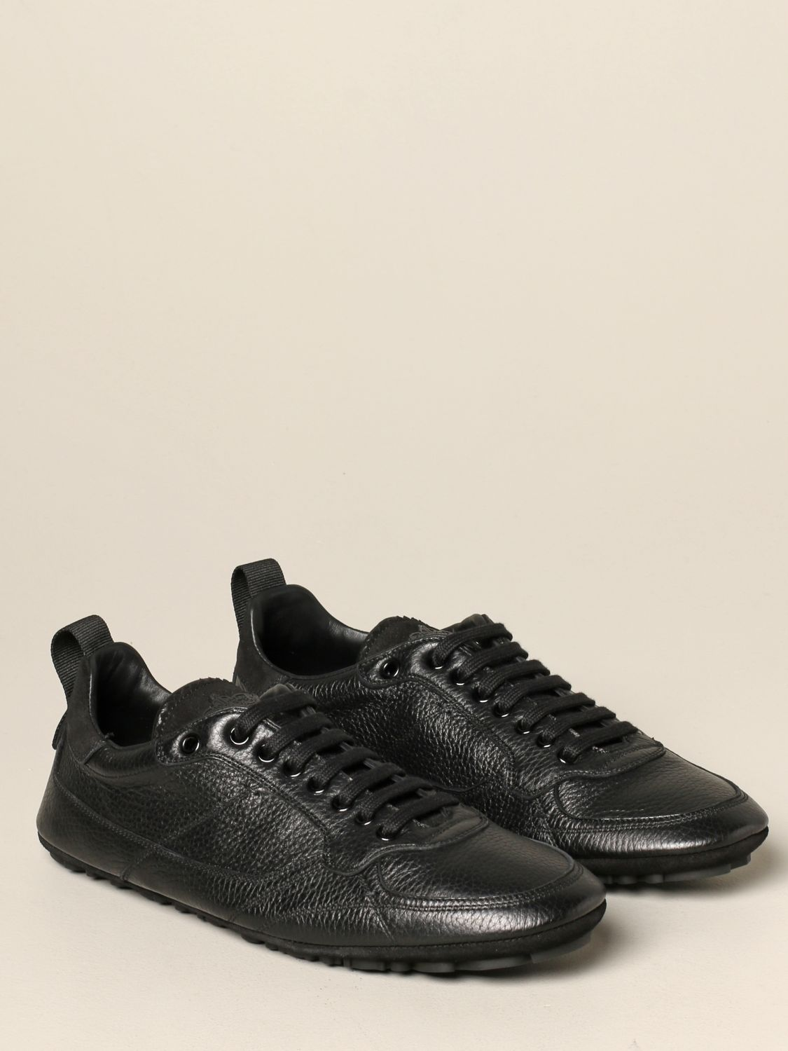 Brogue shoes Dolce & Gabbana: Dolce & Gabbana leather sneakers with logo black 2