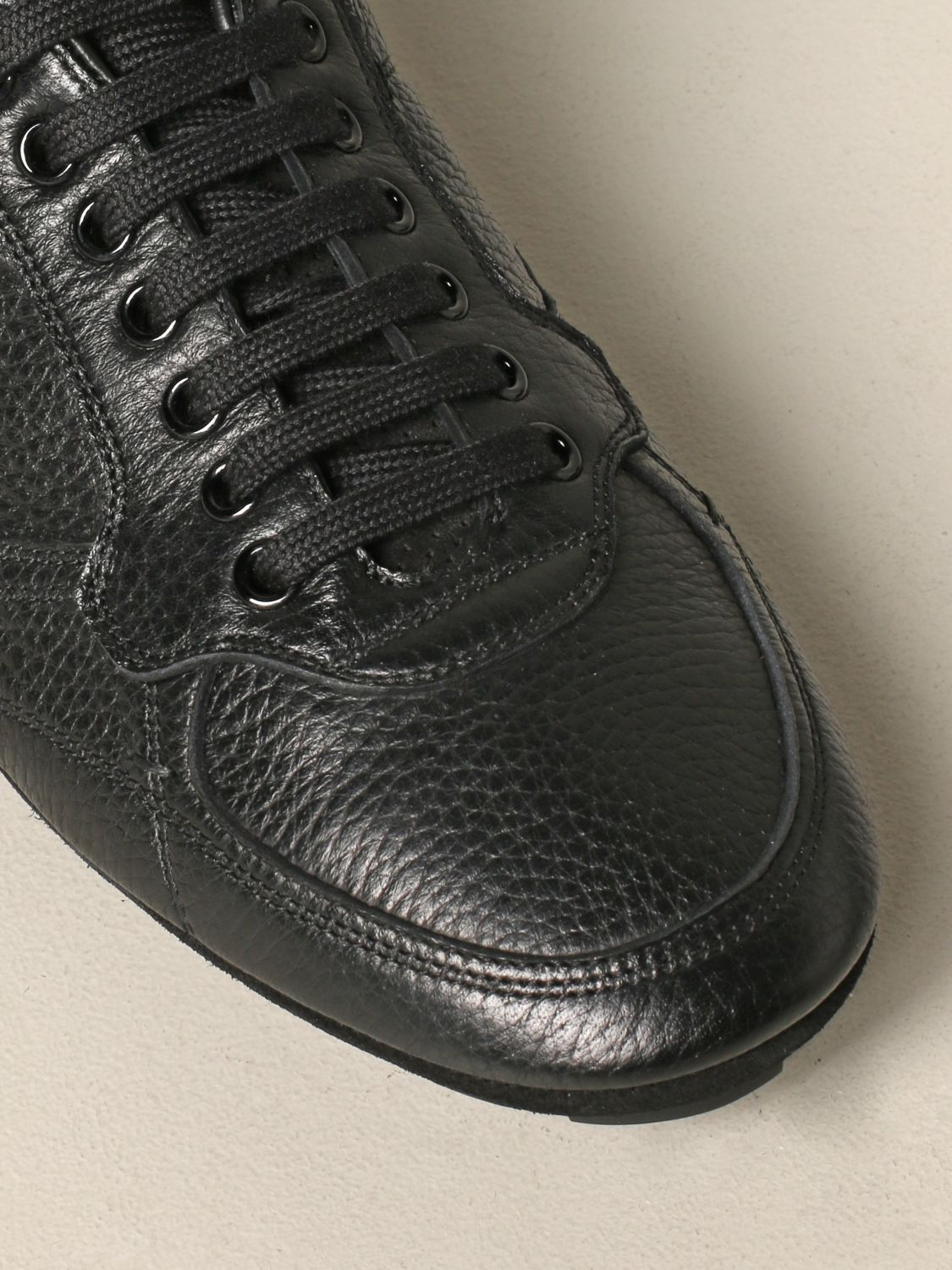 Brogue shoes Dolce & Gabbana: Dolce & Gabbana leather sneakers with logo black 4