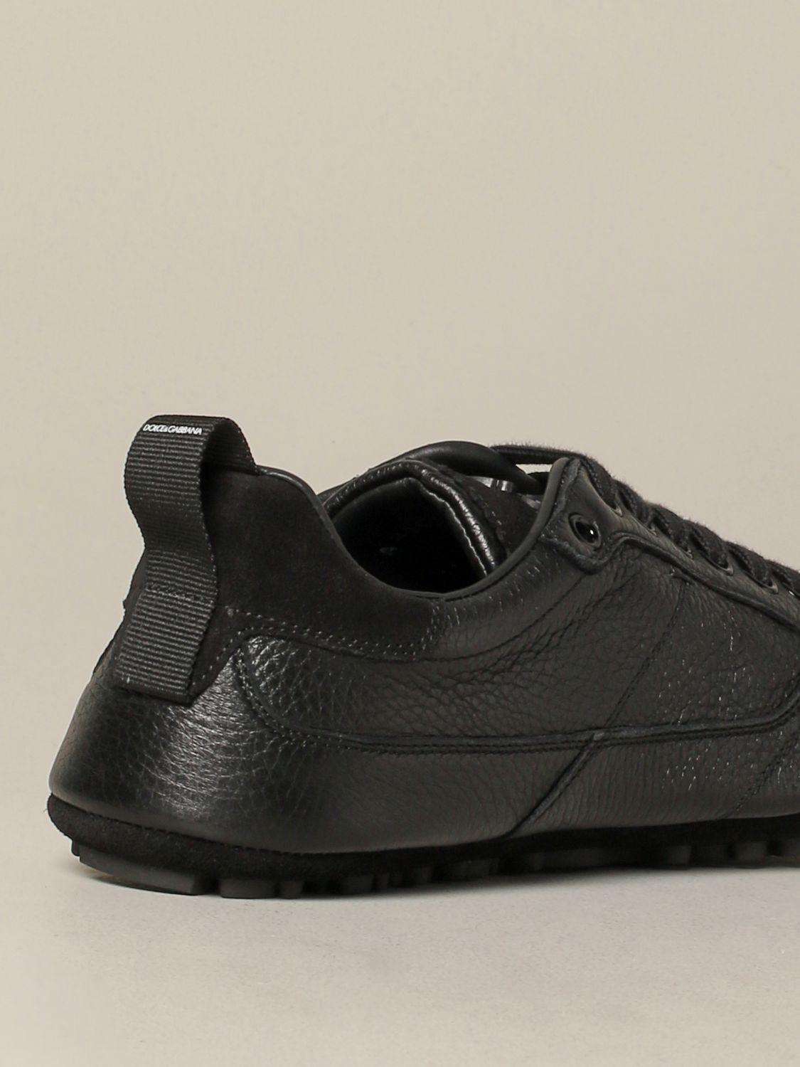 Brogue shoes Dolce & Gabbana: Dolce & Gabbana leather sneakers with logo black 5
