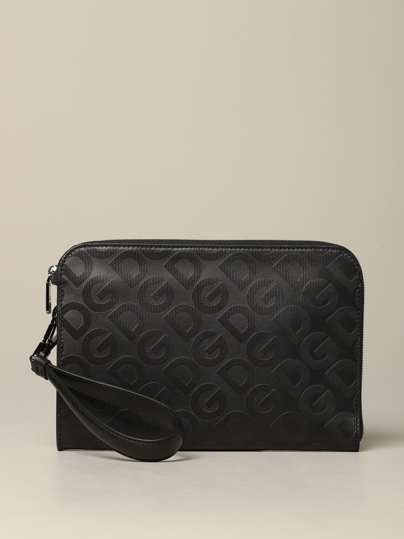 Briefcase Dolce & Gabbana: Dolce & Gabbana clutch bag with all over monogram silver 1