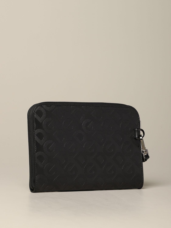 Briefcase Dolce & Gabbana: Dolce & Gabbana clutch bag with all over monogram silver 2