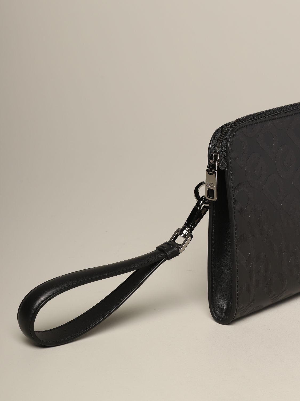Briefcase Dolce & Gabbana: Dolce & Gabbana clutch bag with all over monogram silver 3