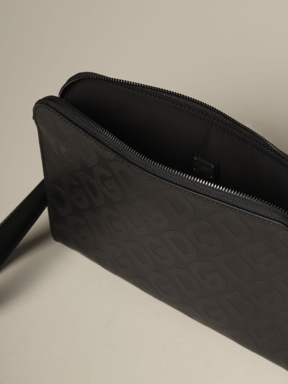 Briefcase Dolce & Gabbana: Dolce & Gabbana clutch bag with all over monogram silver 4
