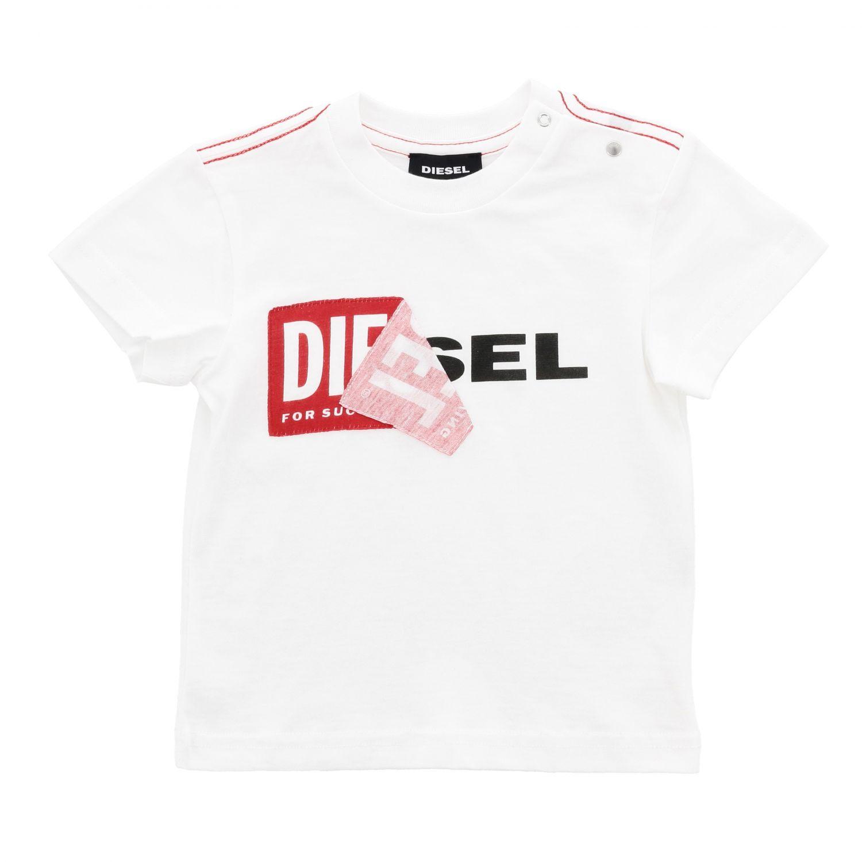 T-shirt Diesel: T-shirt Diesel a maniche corte con logo blue 1