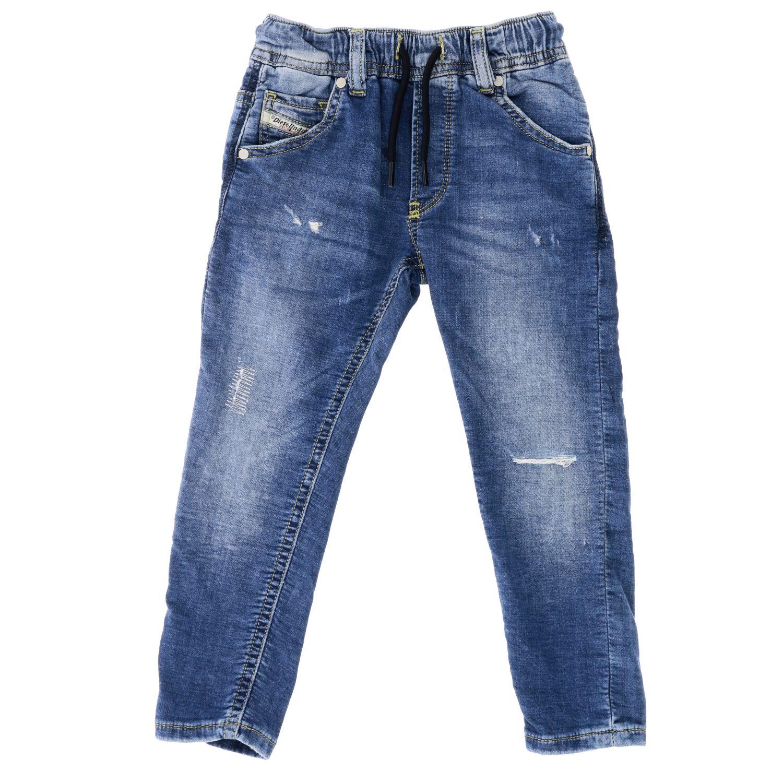 Diesel jeans in used denim with drawstring denim 1