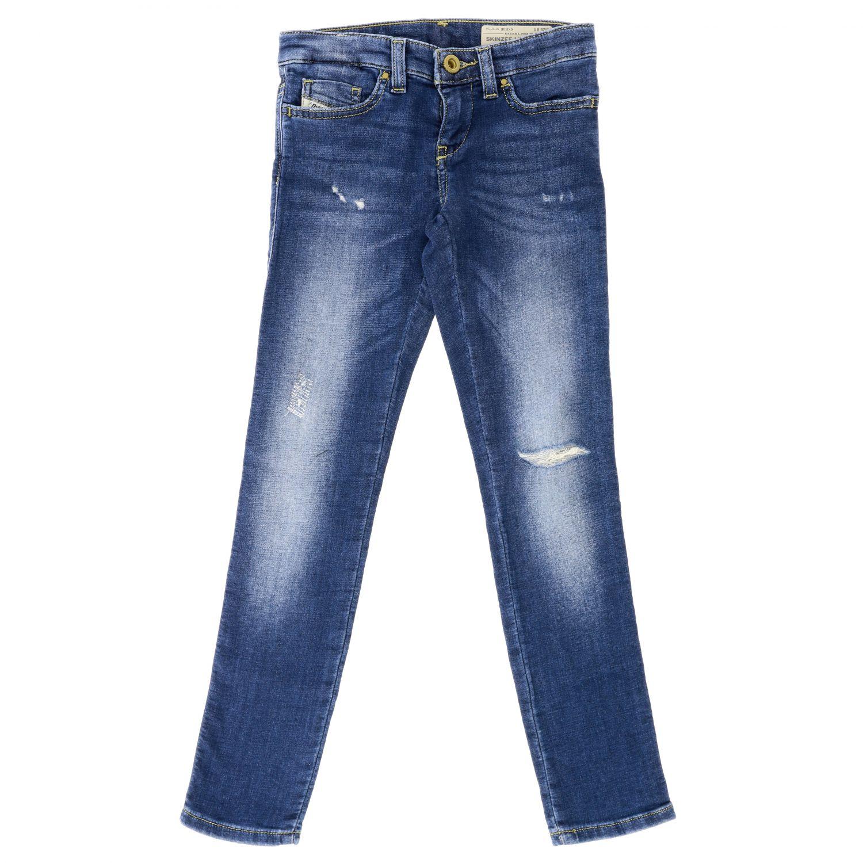 Diesel jeans in used denim with tears denim 1