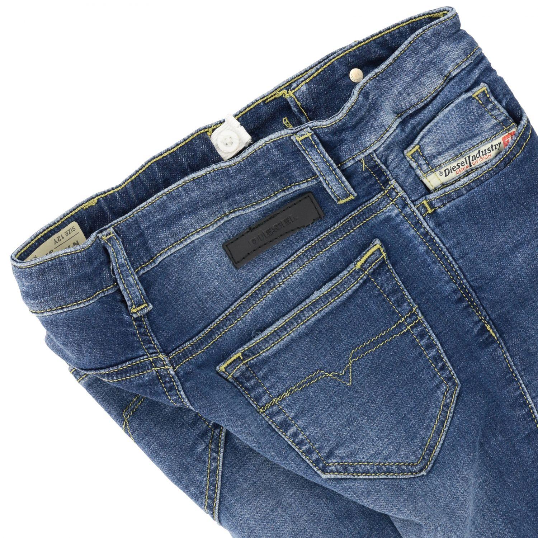 Diesel jeans in used denim with tears denim 3