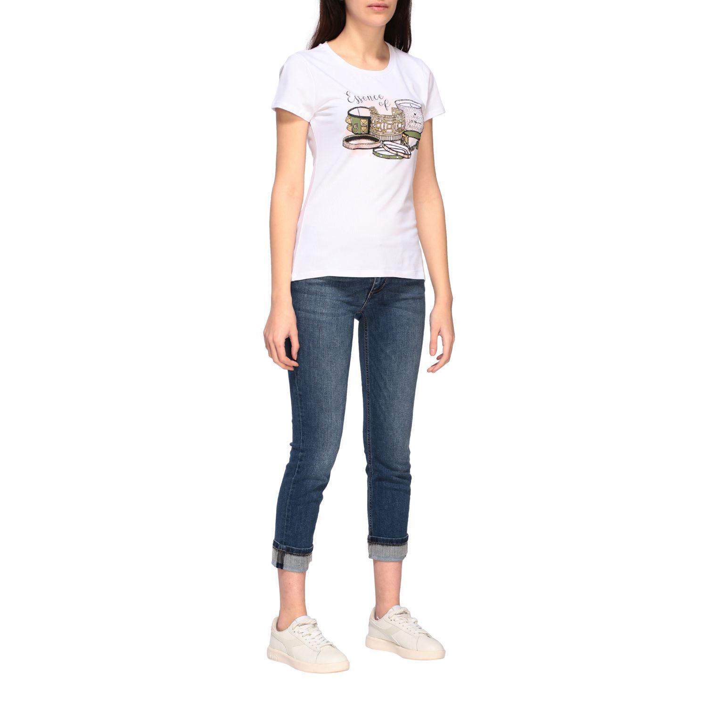 Camiseta mujer Liu Jo blanco 2