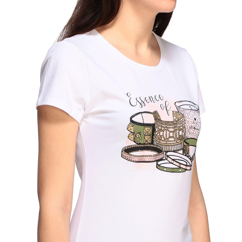 Camiseta mujer Liu Jo blanco 5