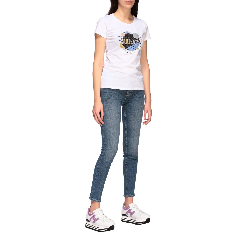 Camiseta mujer Liu Jo blanco 1 2