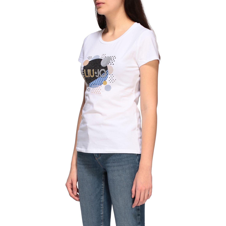 Camiseta mujer Liu Jo blanco 1 4
