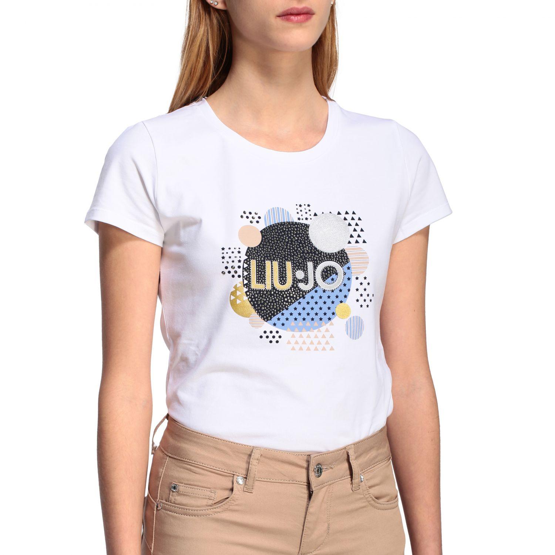 Camiseta mujer Liu Jo blanco 1 5
