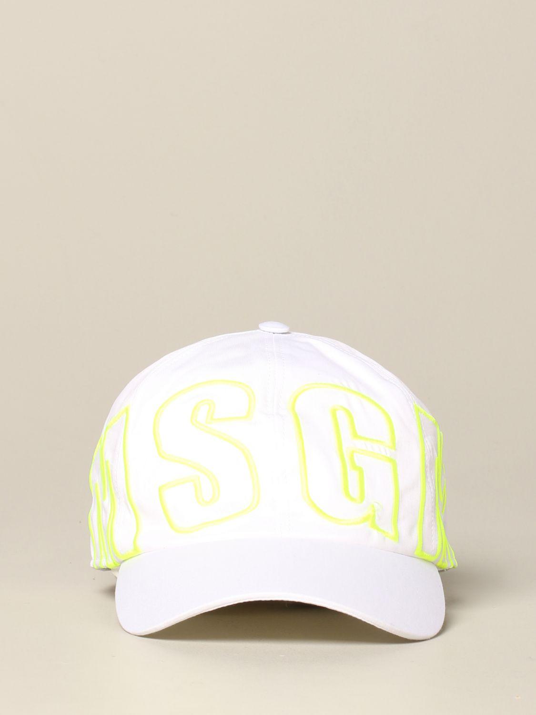 Msgm logo 帽子 白色 2