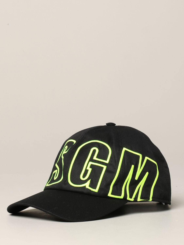Msgm Cap mit Logo schwarz 1