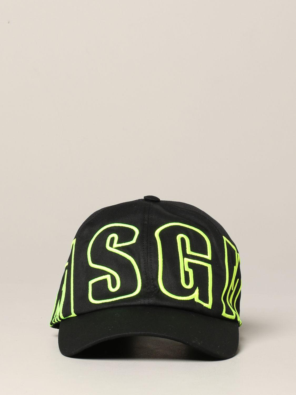 Msgm Cap mit Logo schwarz 2