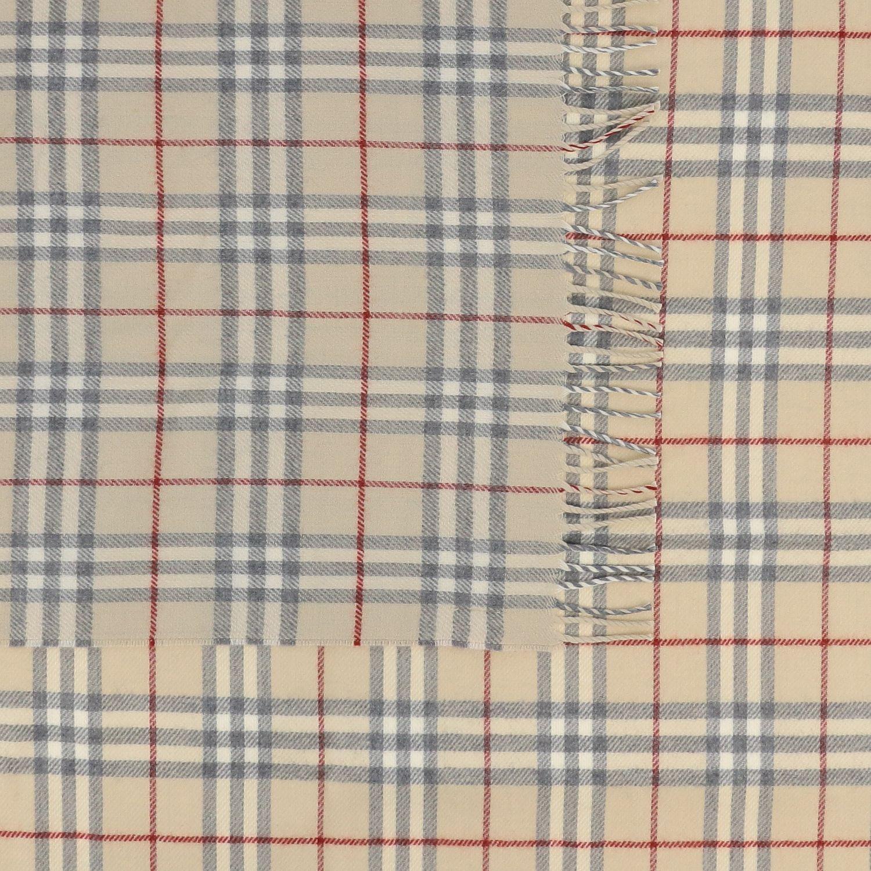 Burberry 格纹印花丝巾 米色 3