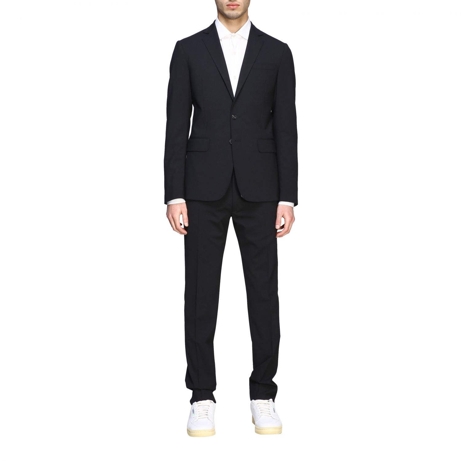 Suit Dsquared2: Dsquared2 suit in basic single-breasted virgin wool blend black 1