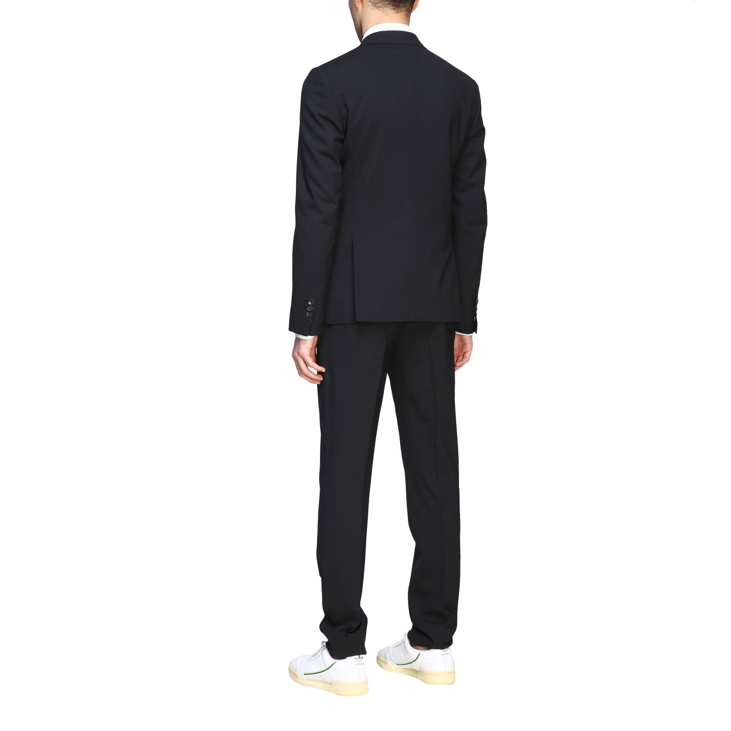 Suit Dsquared2: Dsquared2 suit in basic single-breasted virgin wool blend black 3