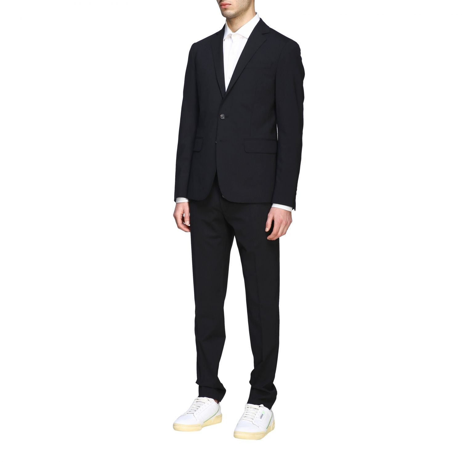Suit Dsquared2: Dsquared2 suit in basic single-breasted virgin wool blend black 4