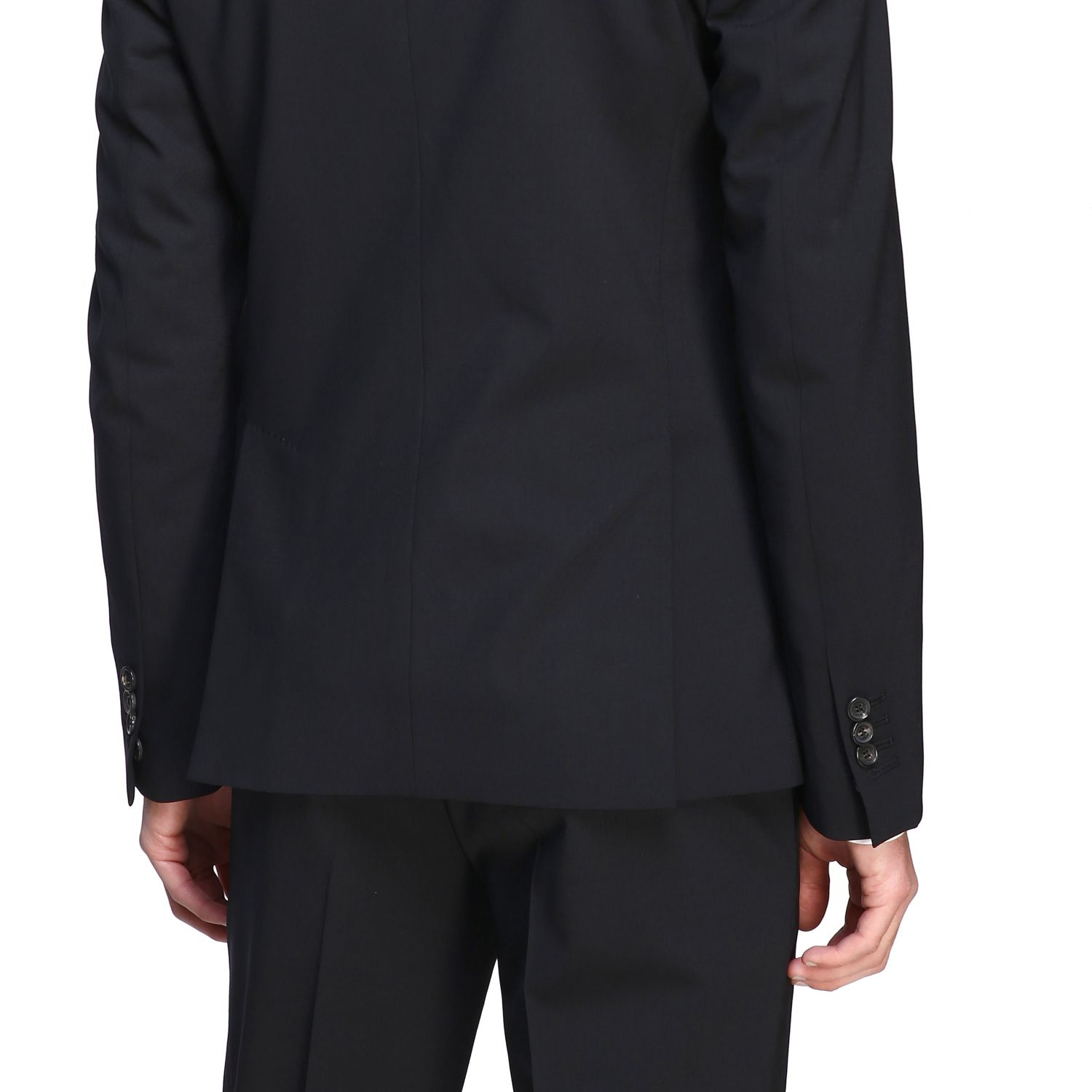Suit Dsquared2: Dsquared2 suit in basic single-breasted virgin wool blend black 5