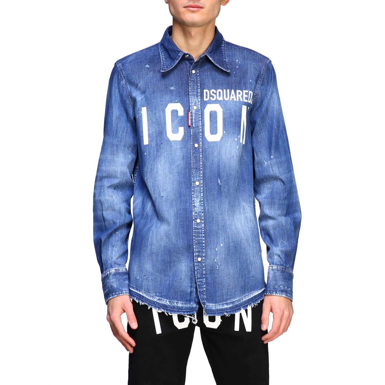Shirt Dsquared2: Dsquared2 denim shirt with Icon logo denim 1