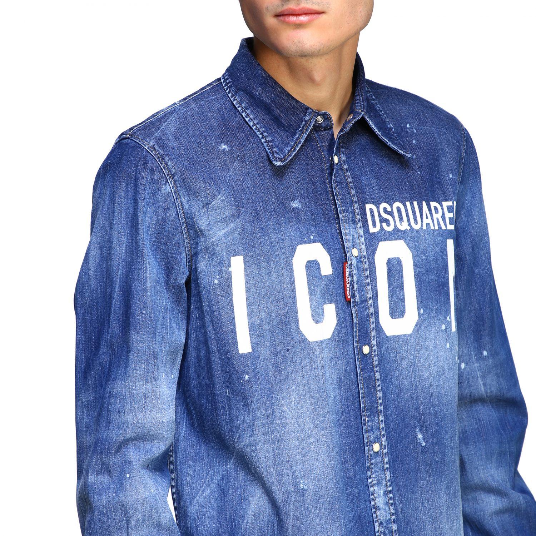 Shirt Dsquared2: Dsquared2 denim shirt with Icon logo denim 5