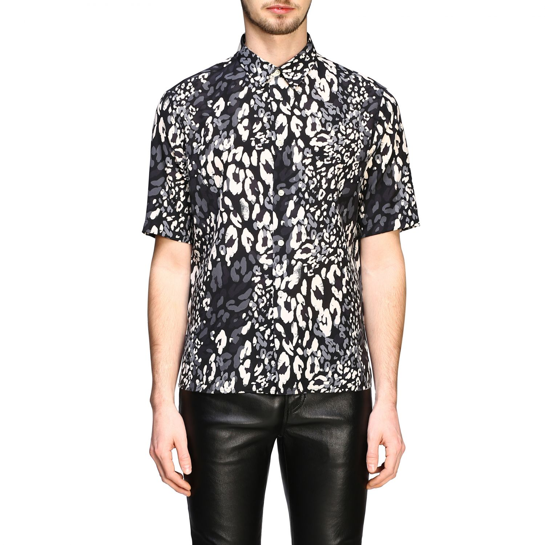 Saint Laurent Hemd mit gepunktetem Aufdruck schwarz 1