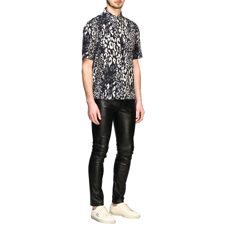 Saint Laurent Hemd mit gepunktetem Aufdruck schwarz 2
