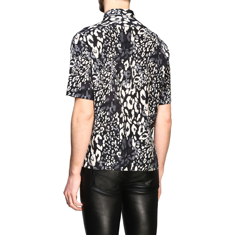 Saint Laurent Hemd mit gepunktetem Aufdruck schwarz 3