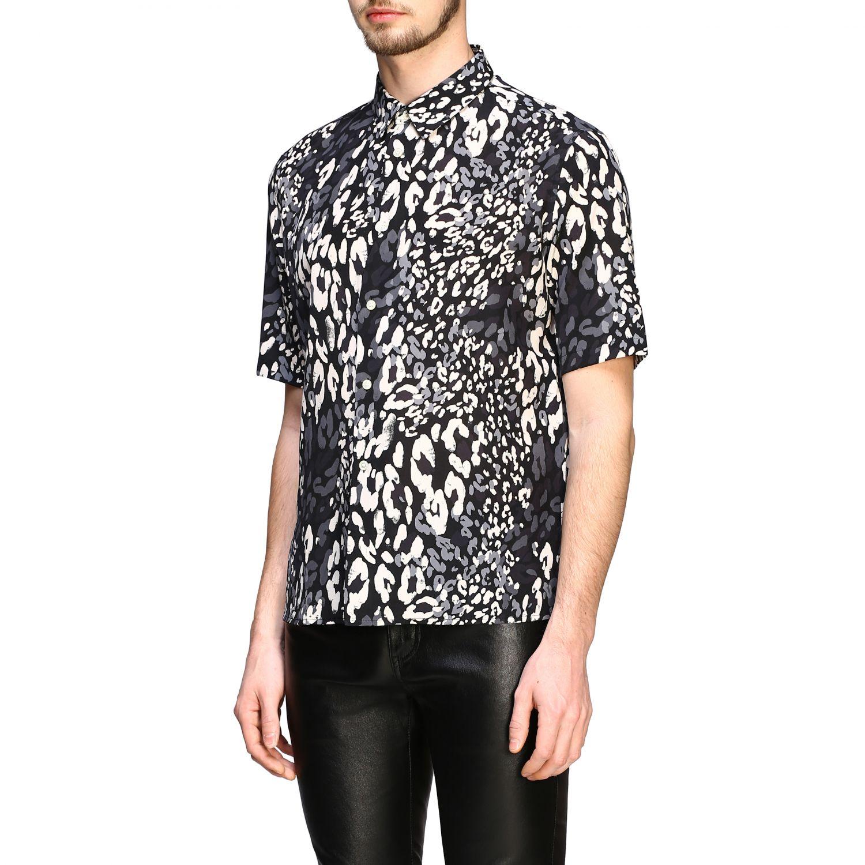 Saint Laurent Hemd mit gepunktetem Aufdruck schwarz 4