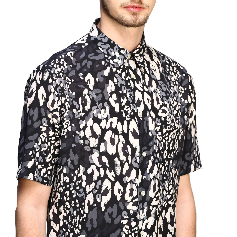 Saint Laurent Hemd mit gepunktetem Aufdruck schwarz 5