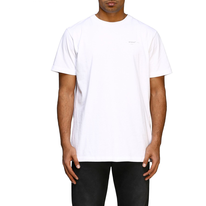 T-shirt Off White basic a maniche corte con mini logo bianco 1