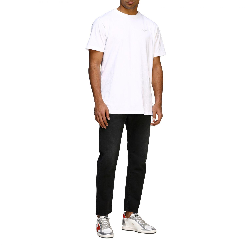 T-shirt Off White basic a maniche corte con mini logo bianco 2