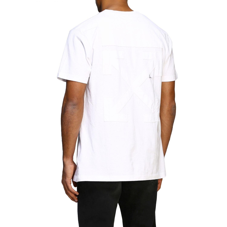 T-shirt Off White basic a maniche corte con mini logo bianco 3