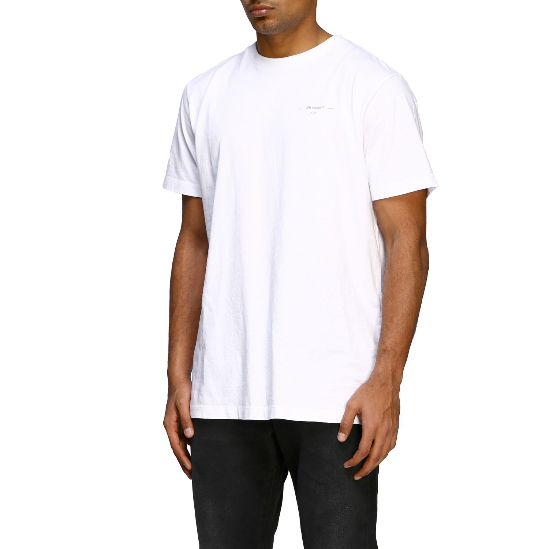 T-shirt Off White basic a maniche corte con mini logo bianco 4