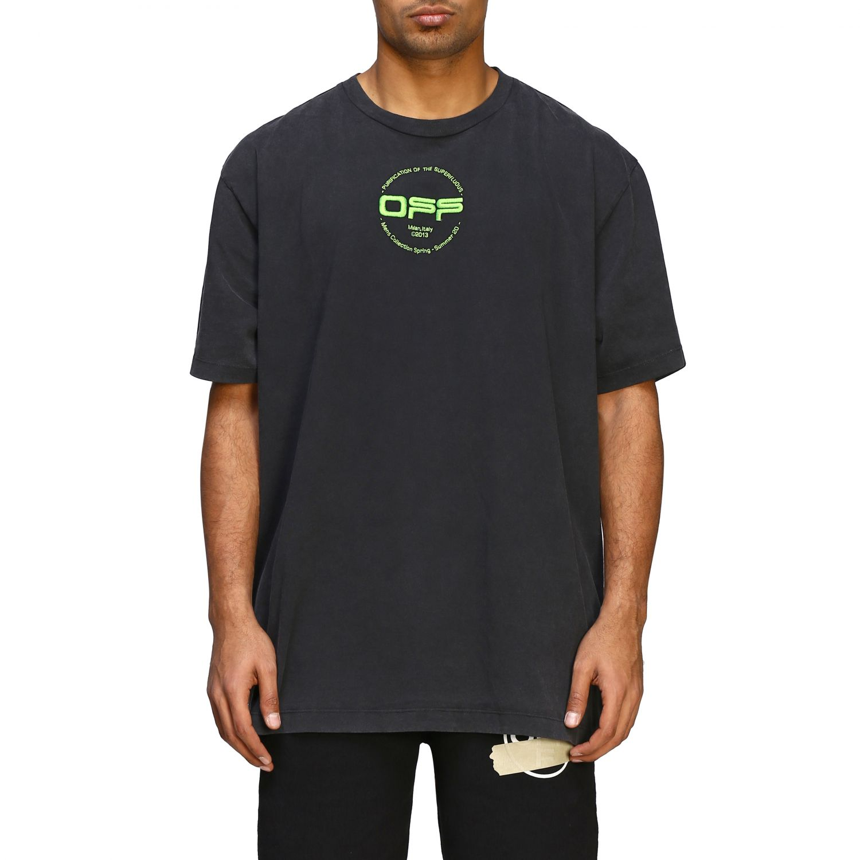 T-shirt men Off White black 1