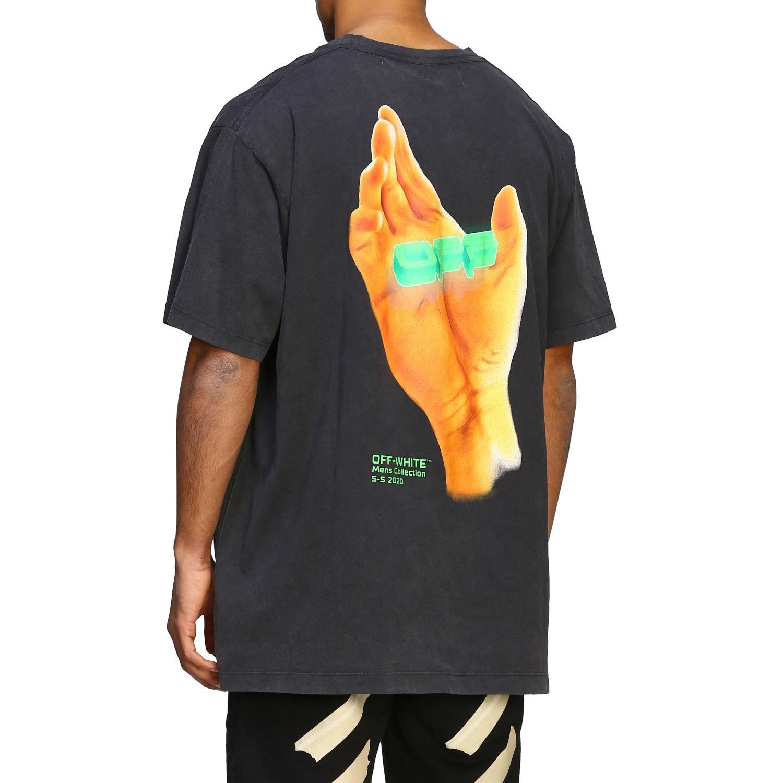 T-shirt men Off White black 3