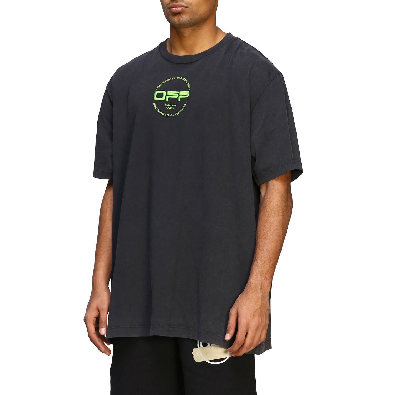 T-shirt men Off White black 4
