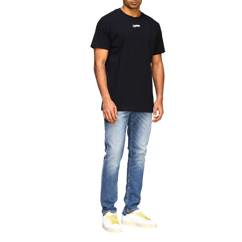 T-shirt Off White con big stampa posteriore nero 2