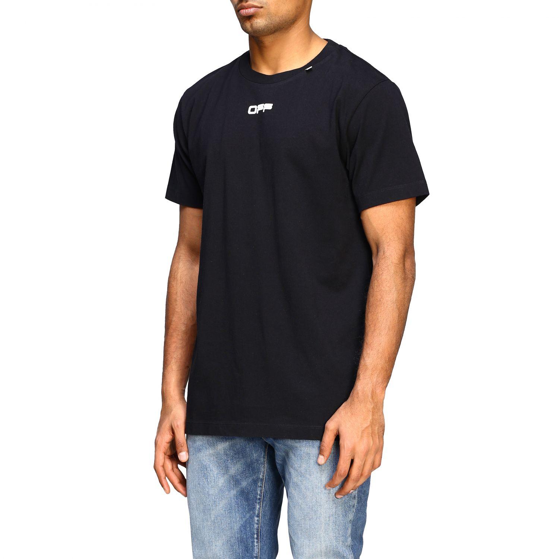 T-shirt Off White con big stampa posteriore nero 4
