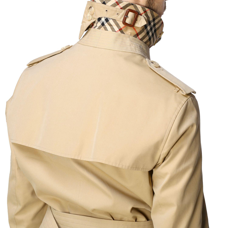 Trench Burberry: Trench croisé Burberry avec ceinture beige 5