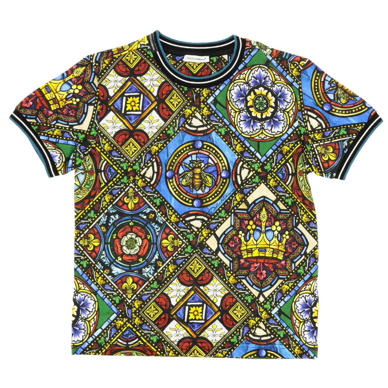 T-shirt Dolce & Gabbana: T-shirt Dolce & Gabbana a maniche corte con stampe fantasia 1