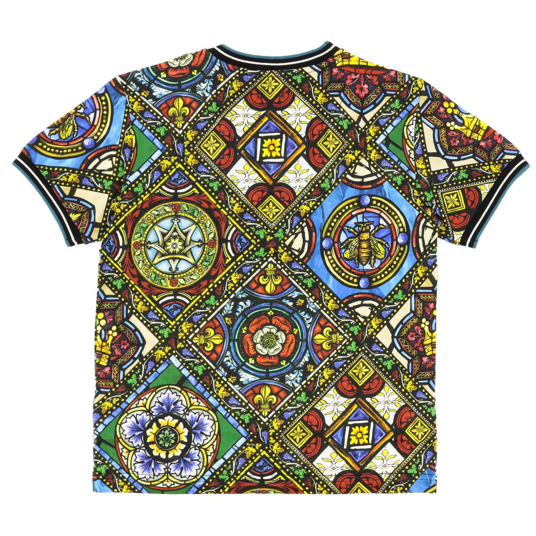 T-shirt Dolce & Gabbana: T-shirt Dolce & Gabbana a maniche corte con stampe fantasia 2