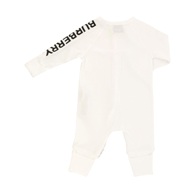 Burberry Infant onesie + hat set white 2