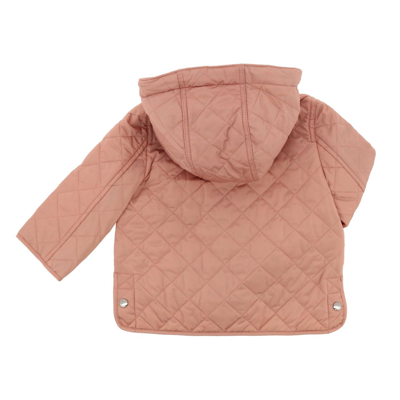Piumino Burberry Infant in nylon trapuntato con interni check rosa 2