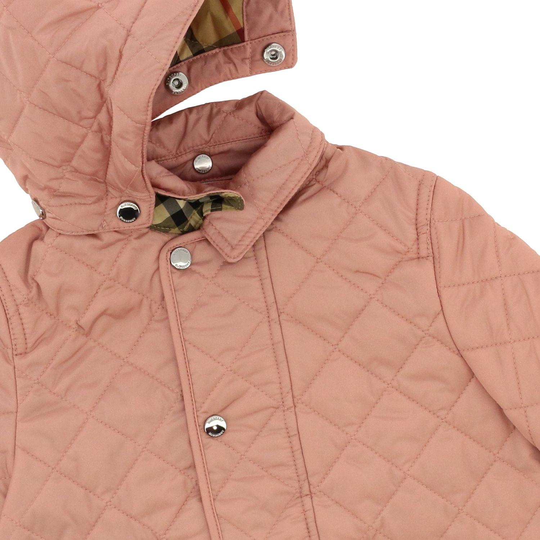 Piumino Burberry Infant in nylon trapuntato con interni check rosa 3